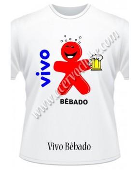 Camiseta Vivo Bêbado