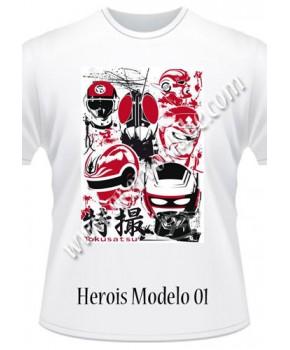 Camiseta Heróis
